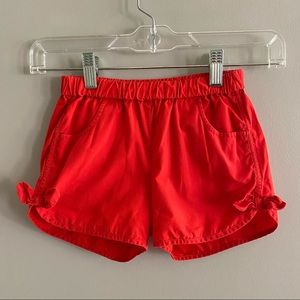 GUC Hanna Andersson Bright red shorts with bows